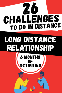 Pinterest image of an article that offers 26 challenges to do in a long distance relationship