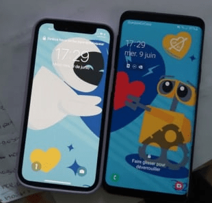Phones of a LDR couple with a long distance relationship wallpaper