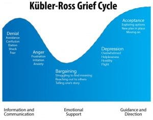 Image of the first LDR Story. Stages of grief we went through when we learned our trip was cancelled