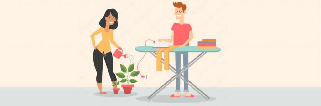 activities for long distance relationship N°48 proposes to LDR couples to do the housework together