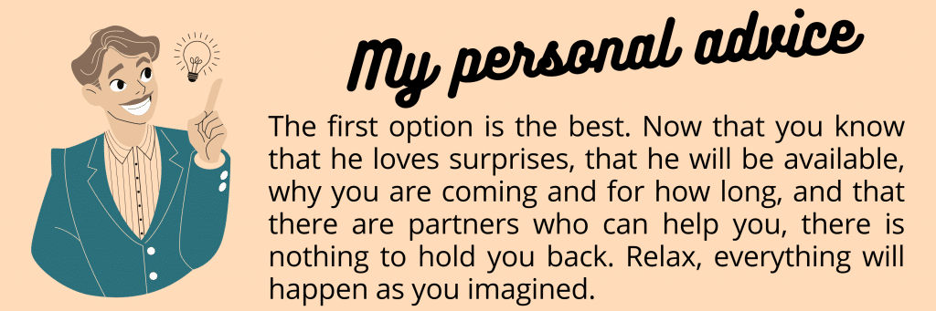 my number 3 personal tip for successfully surprising your long-distance partner with a visit