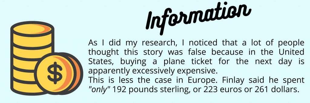 Image explaining that the prices for an inter Europe air ticket are not very expensive compared to the United States