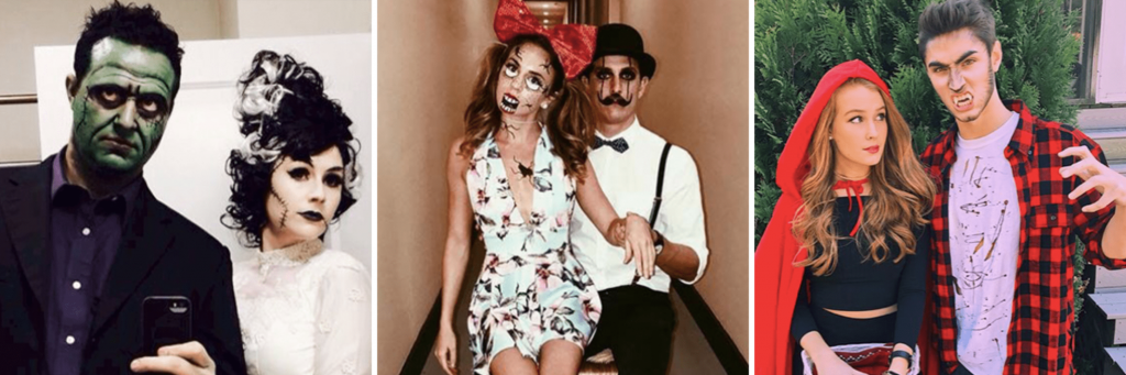 image that helps long-distance relationship couples find a costume for Halloween date night